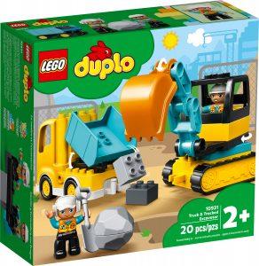 lego 10931 lastbil och gravmaskin