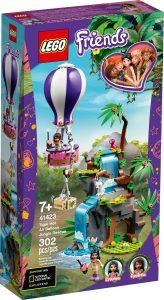 lego 41423 djungelraddning med tiger och luftballong