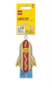 lego 5005705 nyckelring med varmkorvskille och lampa