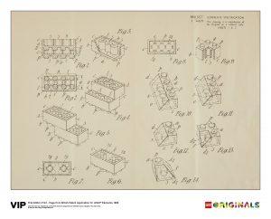 lego 5006004 tryck av brittiskt patent 1968 forsta upplagan