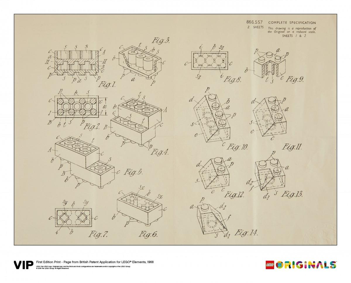 lego 5006004 tryck av brittiskt patent 1968 forsta upplagan scaled