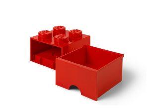 lego 5006129 rod forvaringskloss med 4 knoppar och lada