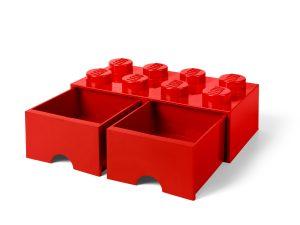 lego 5006131 rod forvaringskloss med 8 knoppar och lada