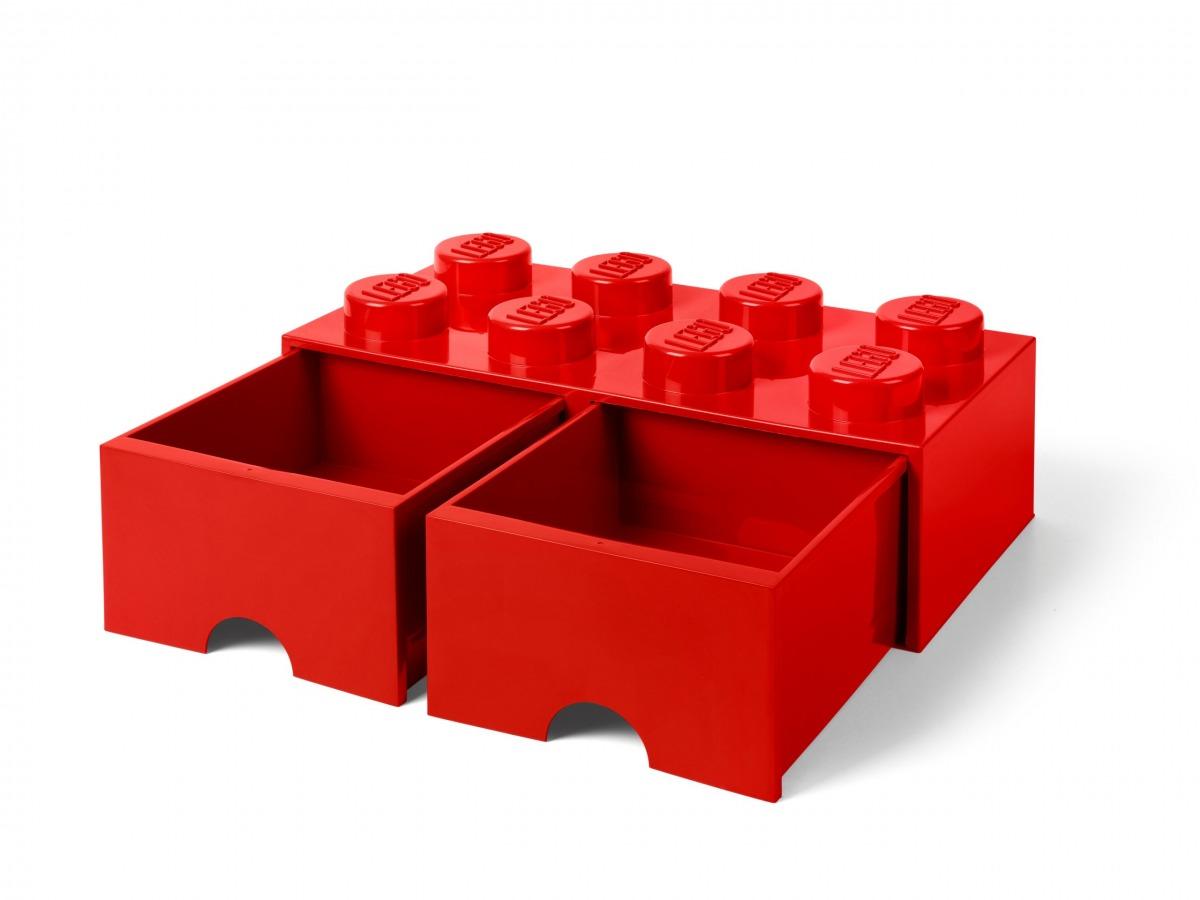 lego 5006131 rod forvaringskloss med 8 knoppar och lada scaled
