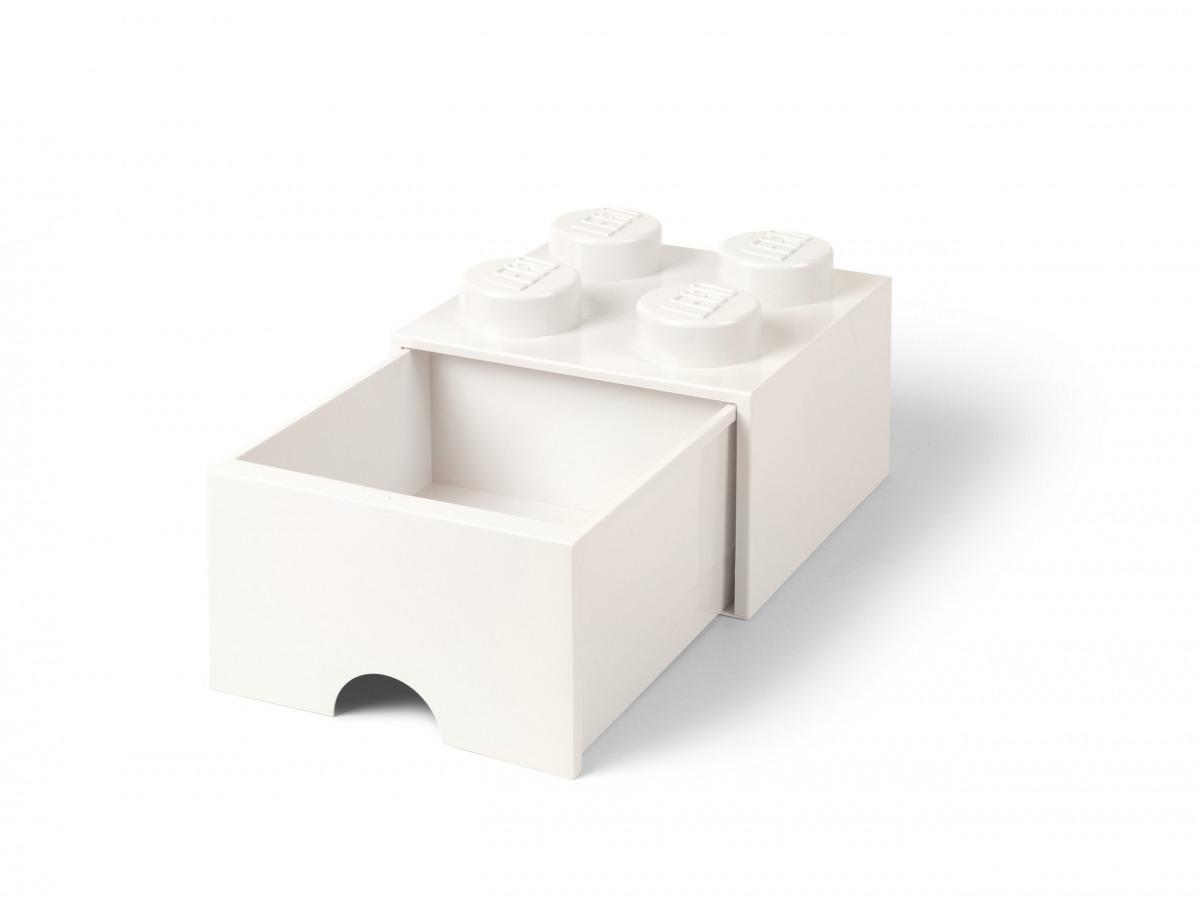 lego 5006208 vit forvaringskloss med 4 knoppar och lada scaled