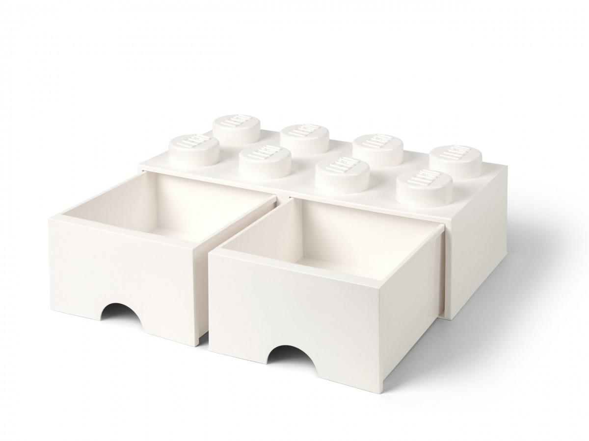 lego 5006209 vit forvaringskloss med 8 knoppar och lada scaled