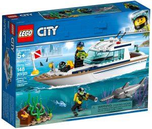 lego 60221 dykaryacht