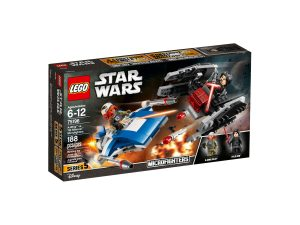 lego 75196 a wing vs tie silencer microfighters