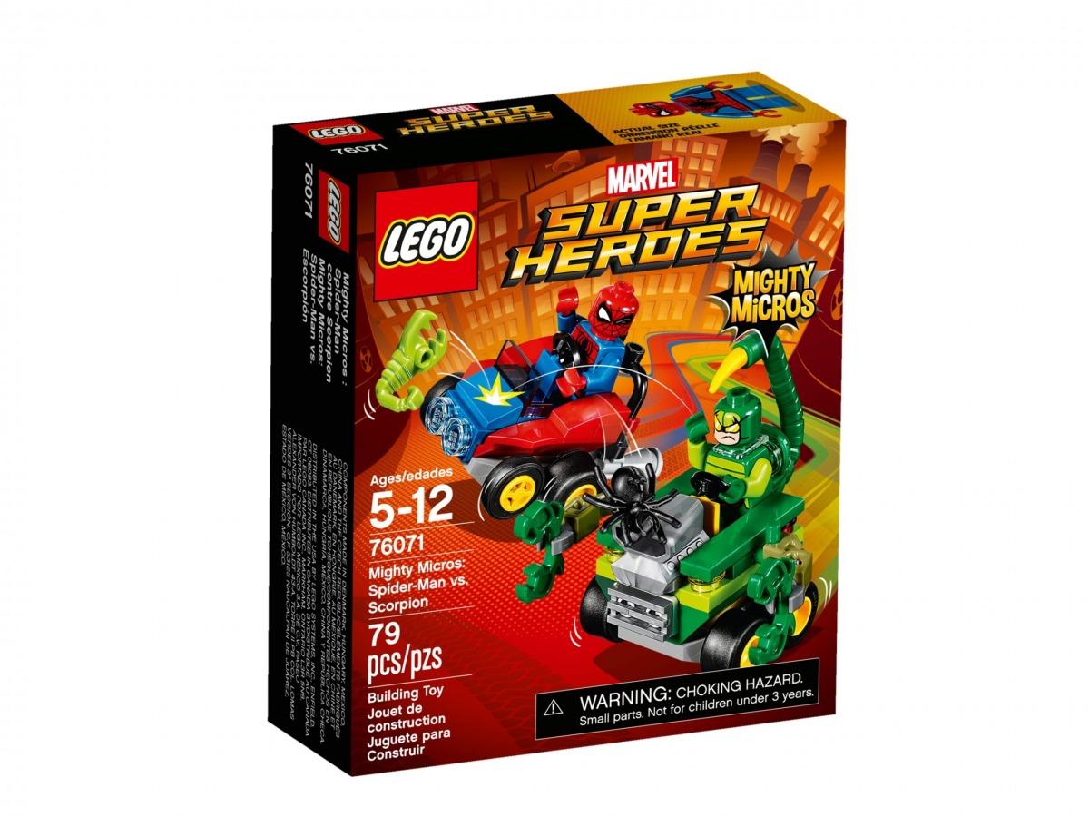 lego 76071 maktiga mikromodeller spider man mot scorpion scaled