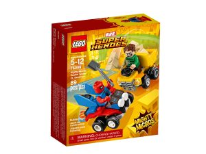 lego 76089 maktiga mikromodeller scarlet spider vs sandman