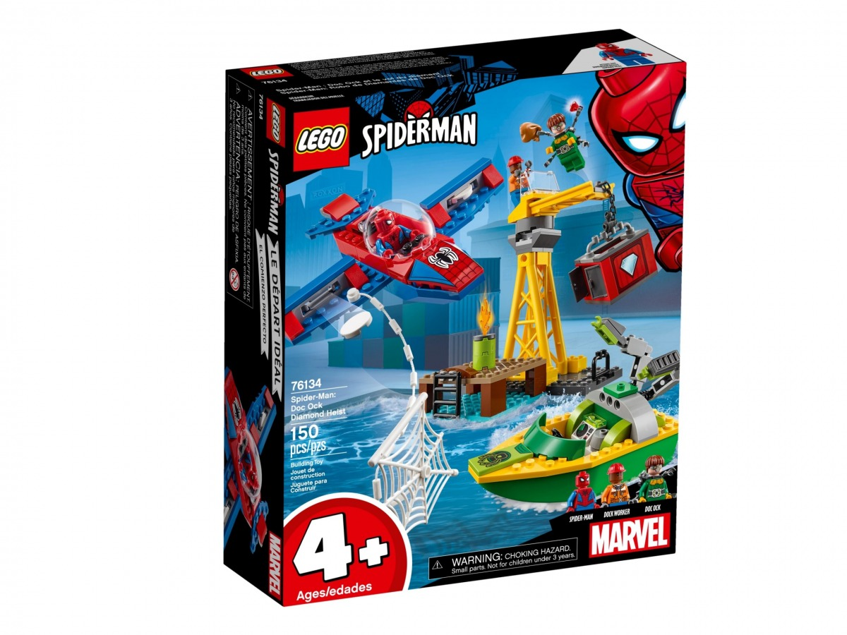 lego 76134 spider man doc ocks diamantkupp scaled