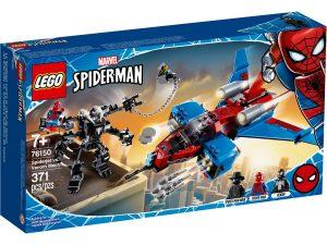 lego 76150 spiderjet mot venoms robot