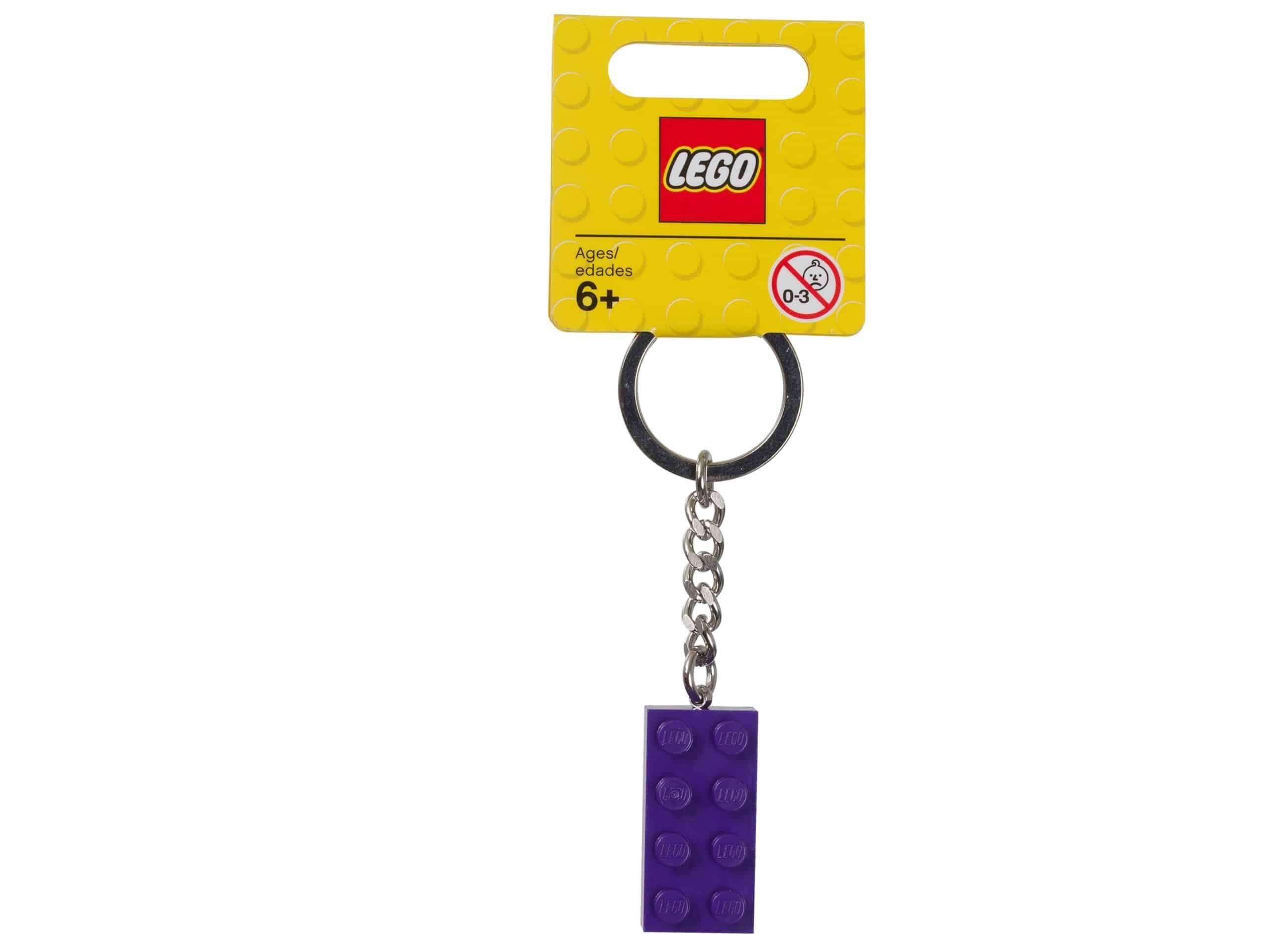 lego 853379 nyckelring med lila 2x4 kloss scaled