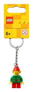 lego 854041 nyckelring med glad tomtenisse