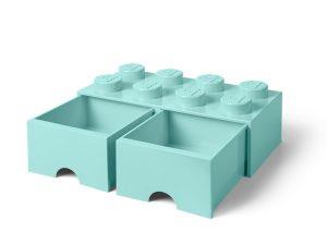 ljusturkos lego 5006182 forvaringskloss med 8 pluppar och lada