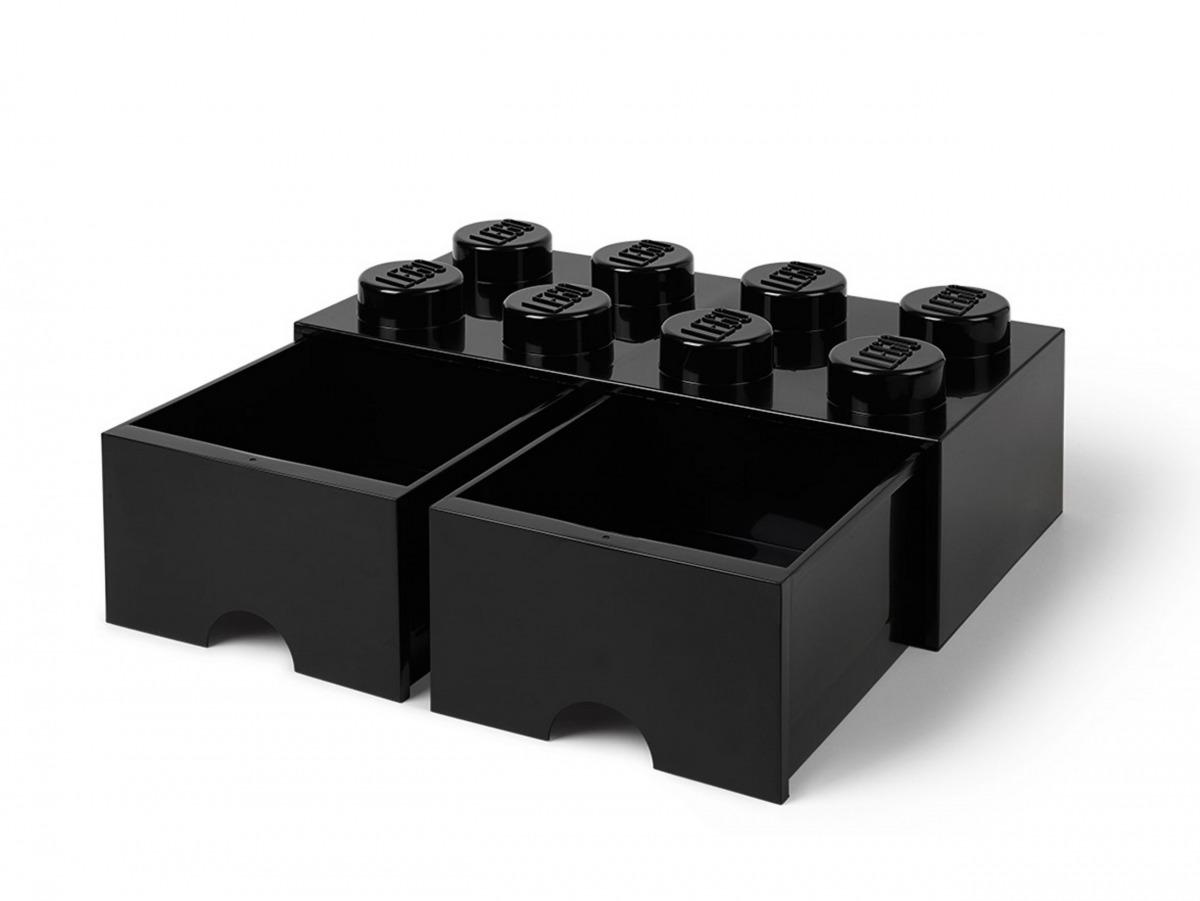 svart lego 5006248 forvaringskloss med 8 pluppar och lada scaled
