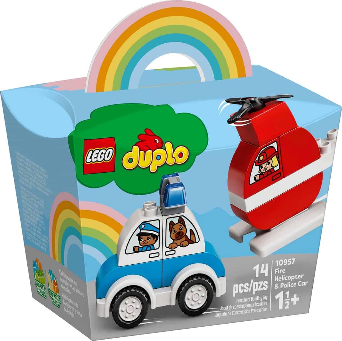 lego 10957 brandhelikopter och polisbil