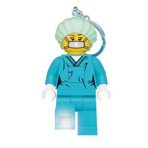 lego 5006366 nyckelring med lampa kirurg