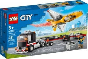 lego 60289 transport med flyguppvisningsjet