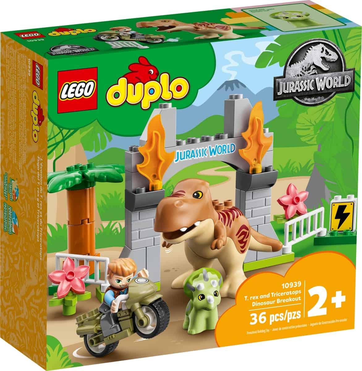 lego 10939 t rex och triceratops rymmer