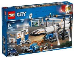 lego 60229 raketmontering och transport
