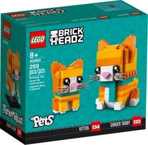 lego 40480 orange tabbykatt