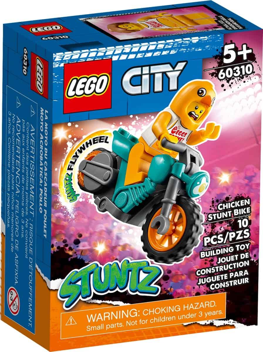 lego 60310 stuntcykel med kyckling