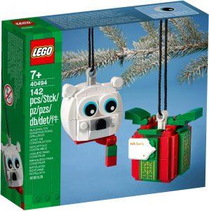 lego 40494 set med isbjorn och present