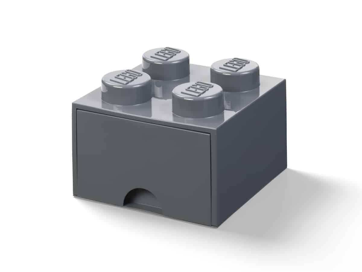 lego 5006328 forvaringskloss med 4 knoppar morkgra