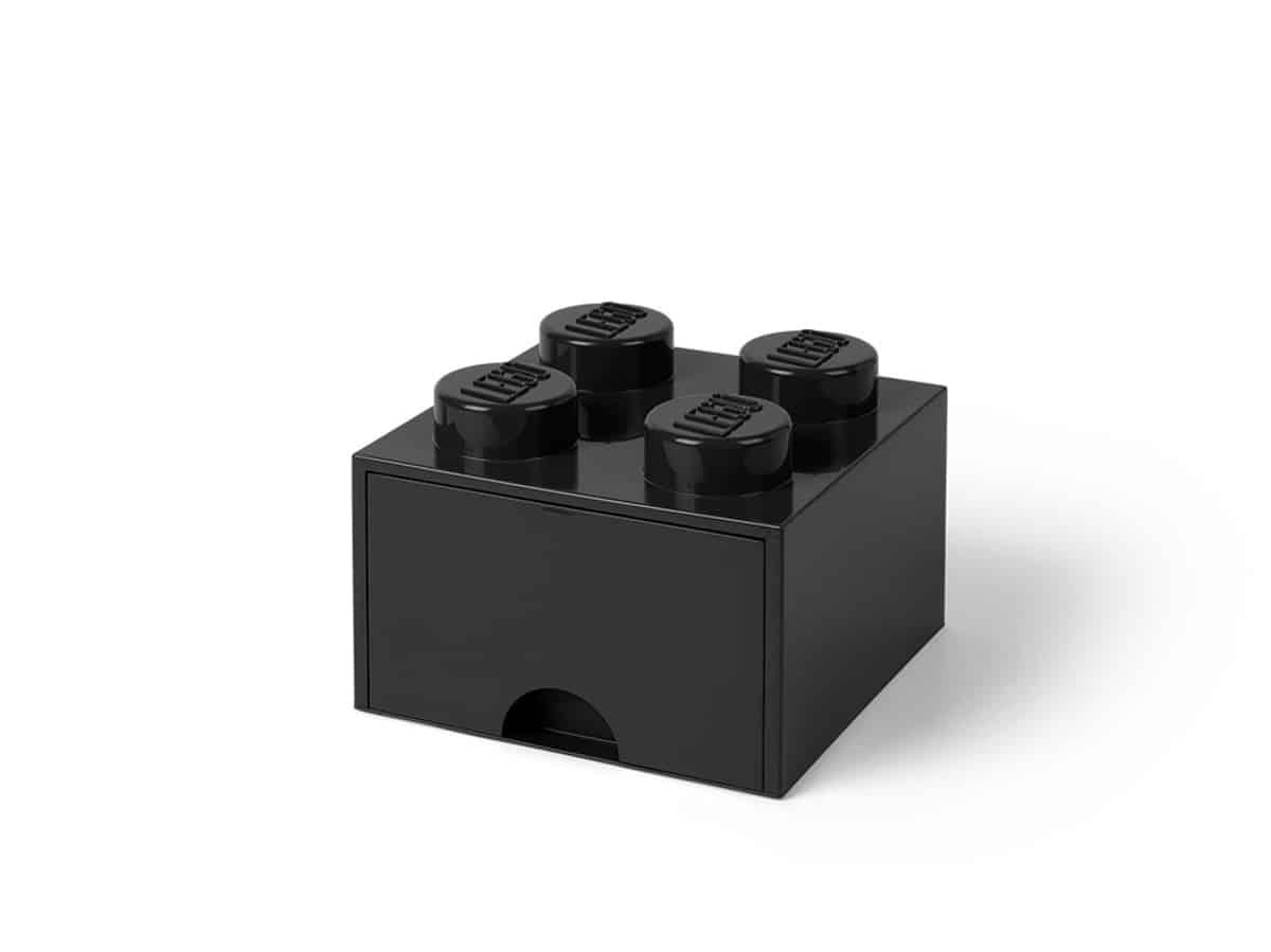 svart lego 5005711 forvaringskloss med 4 pluppar och lada