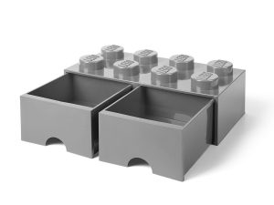 mellangr lego 5005720 frvaringskloss med 8 pluppar och lda