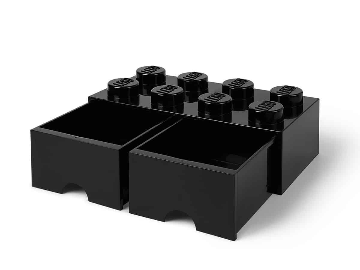 svart lego 5006248 frvaringskloss med 8 pluppar och lda